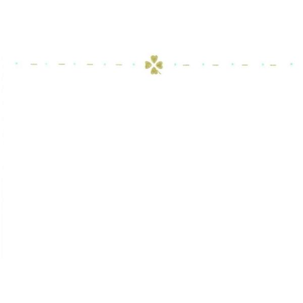 メッセージカード クローバー(ゴールド) A6 シングル