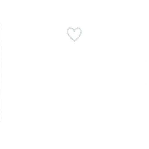 メッセージカード ハート(シルバー) A6 シングル