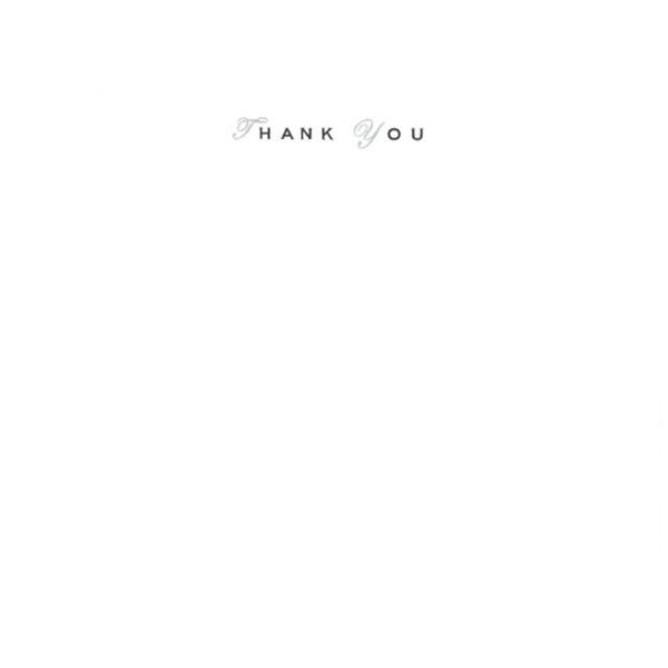 メッセージカード Thank You(ブラック) A6 シングル