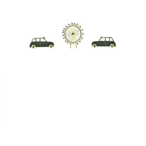 メッセージカード タクシーと観覧車 A6 シングル