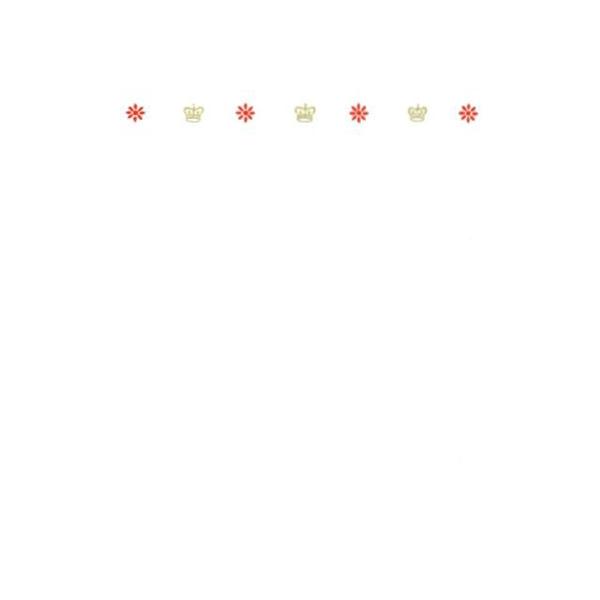 メッセージカード 花とクラウン A6 シングル