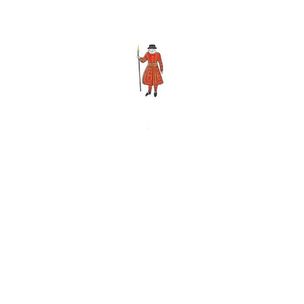 メッセージカード ヨーマン・オブ・ザ・ガード A6 シングル