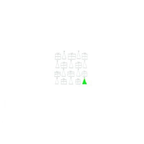 クリスマスカード クリスマスツリー&プレゼント A6 シングル