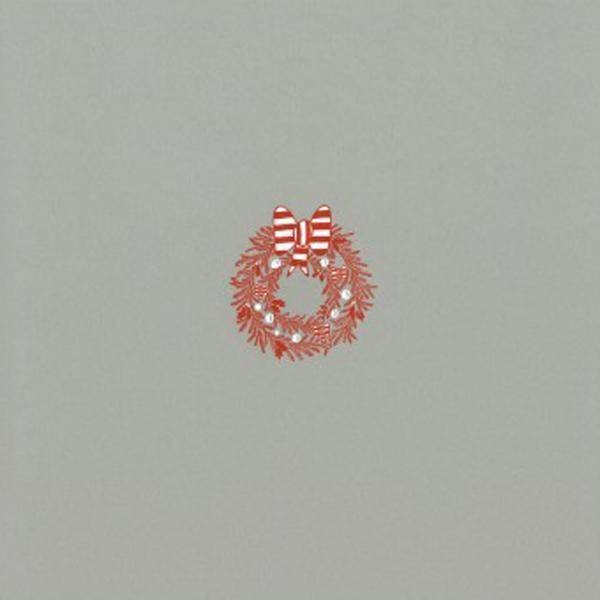 クリスマスカード クリスマスリース A6 シングル