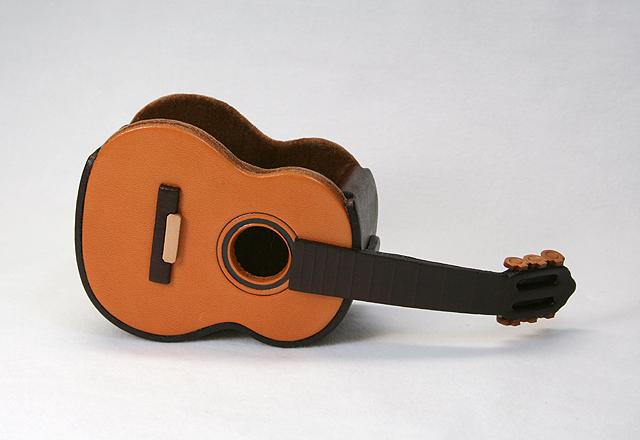 本革メガネ小物ケース ギター