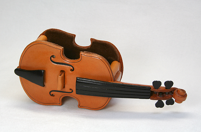 本革メガネ小物ケース ヴァイオリン