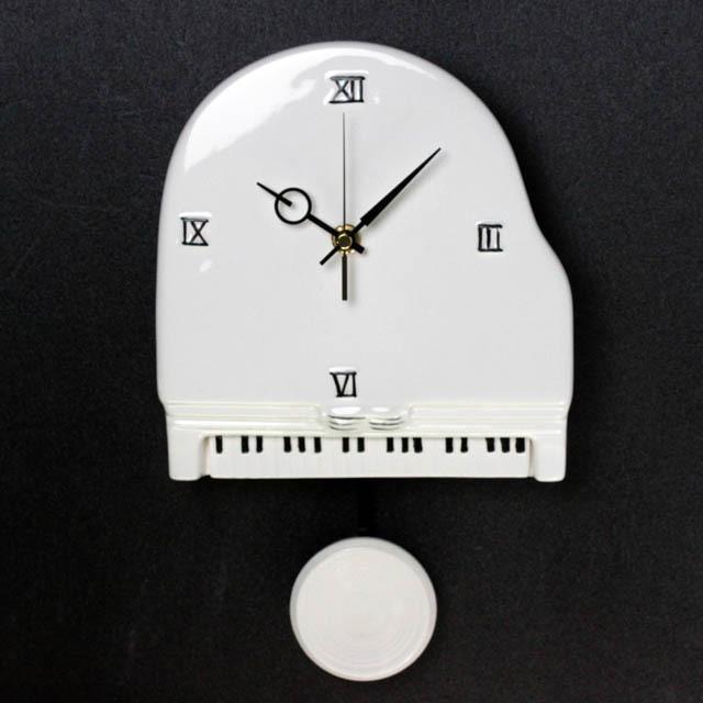 陶器 振り子時計 グランドピアノ 音楽雑貨 音楽グッズ