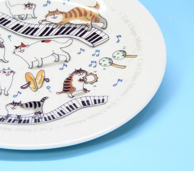 Cat Chips Music 小皿 プレート 鍵盤 ネコ ピアノ