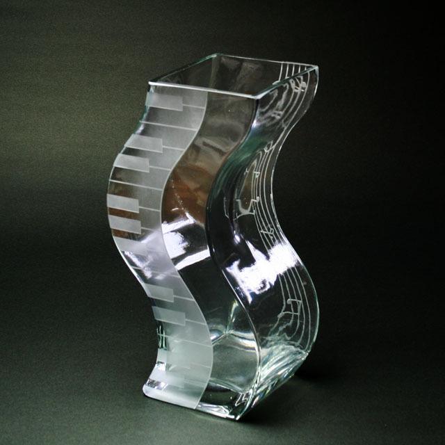 ピアノ 鍵盤 音符 花瓶 音楽雑貨 音楽ギフト 音楽グッズ