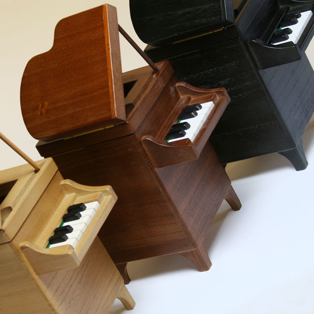 製 グランドピアノ ダストボックス 【S】 音楽雑貨 鍵盤