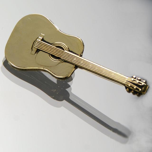 ブローチ フォークギター 音楽雑貨 音楽アクセサリー 音楽ギフト 音楽グッズ