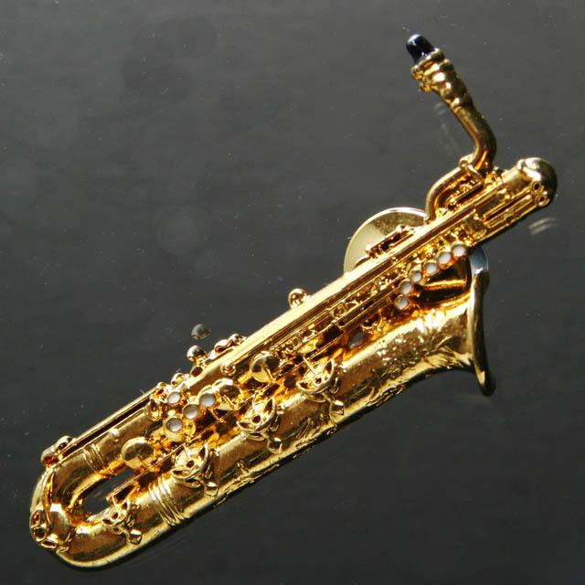 バリトンサックス ピン アクセサリー 音楽雑貨 音楽ギフト 音楽グッズ