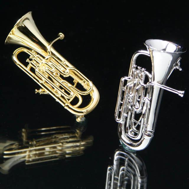 ユーフォニアム 金管楽器 Euphonium SV925 シルバーブローチ 音楽雑貨 音楽グッズ 音楽ギフト 楽器グッズ