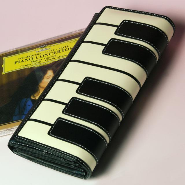 ピアノ鍵盤 財布 札入 カード入 音楽雑貨 音楽小物 音楽グッズ