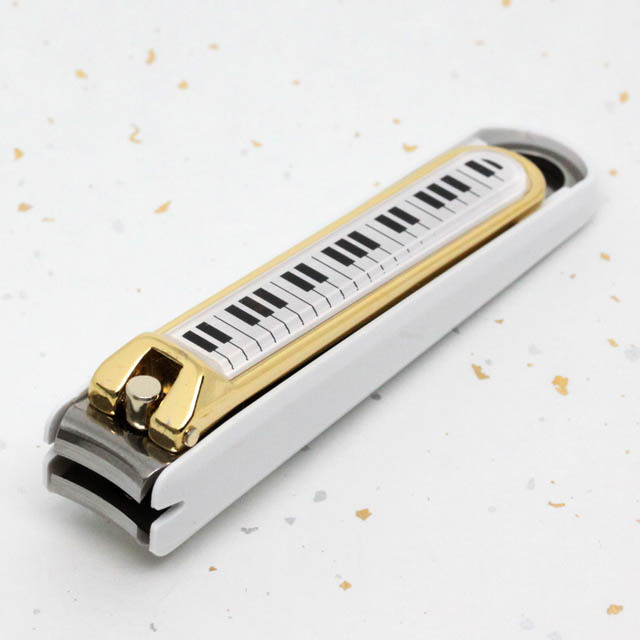 ピアノ鍵盤 爪切 貝印 KAI カード入 音楽雑貨 音楽小物 音楽グッズ