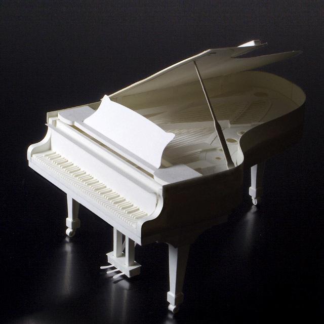 グランドピアノ 鍵盤楽器 ペーパークラフト paper-crafting HANDSON 音楽雑貨 音楽グッズ 音楽ギフト