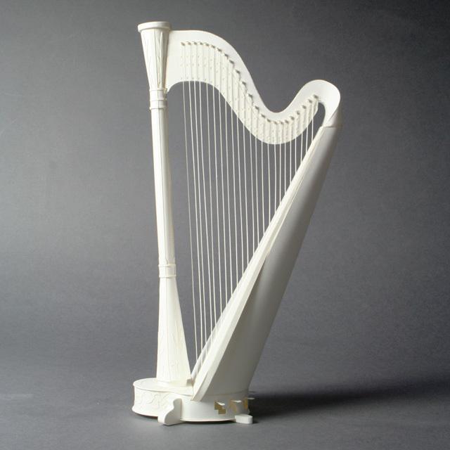 ハープ harp ペーパークラフト paper-crafting HANDSON 音楽雑貨 音楽グッズ 音楽ギフト