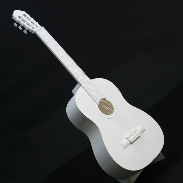 クラシックギター guitar 弦楽器 ペーパークラフト paper-crafting HANDSON 音楽雑貨 音楽グッズ 音楽ギフト