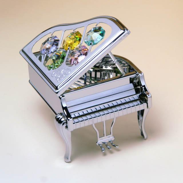 Crystocraft グランドピアノ スワロフスキー Swarovski オーナメント 音楽雑貨 音楽ギフト 音楽グッズ