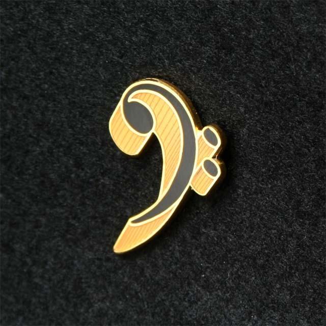 へ音記号 ピン bass clef pin F clef 音楽アクセサリー 音楽雑貨 音楽グッズ 音楽ギフト
