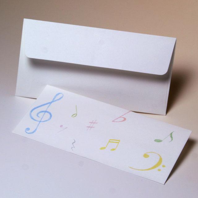 ト音記号 ヘ音記号 音符 文具 一筆箋 便箋 封筒 音楽雑貨 音楽ギフト 音楽グッズ