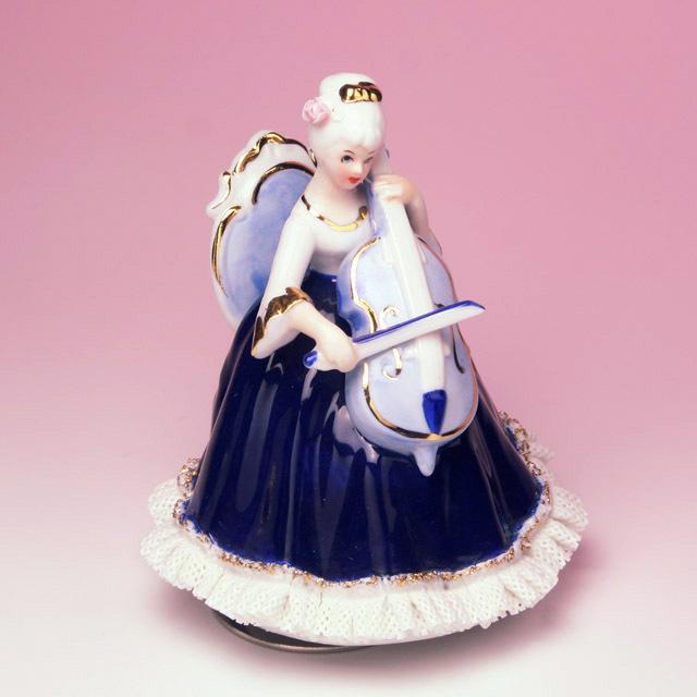 レース人形 チェロ violoncello Vc 楽器のオルゴール 音楽雑貨 音楽ギフト 音楽グッズ