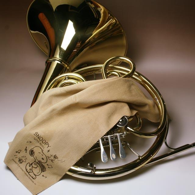 超極細繊維クロス ホルン スヌーピー エグゼクティブラグジュアリークロス 音楽雑貨 音楽グッズ 楽器用品 メンテナンス 音楽ギフト