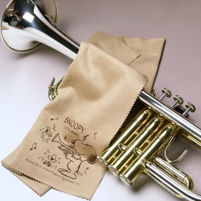 超極細繊維クロス トランペット スヌーピー エグゼクティブラグジュアリークロス 音楽雑貨 音楽グッズ 楽器用品 メンテナンス 音楽ギフト