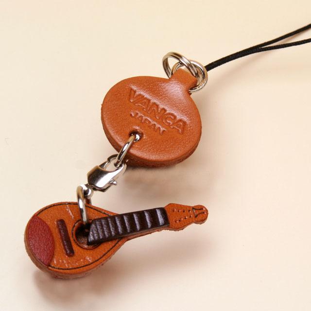 本革製携帯ストラップ マンドリン mandolin 音楽雑貨 音楽小物 音楽ギフト 音楽グッズ