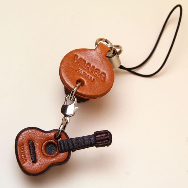本革製携帯ストラップ クラシックギター Guitar 音楽雑貨 音楽小物 音楽ギフト 音楽グッズ
