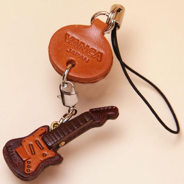 本革製携帯ストラップ エレキギター Guitar 音楽雑貨 音楽小物 音楽ギフト 音楽グッズ
