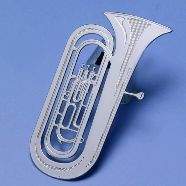 チューバ tuba デザインクリップ ステンレス 音楽雑貨 音楽グッズ 音楽ギフト 記念品