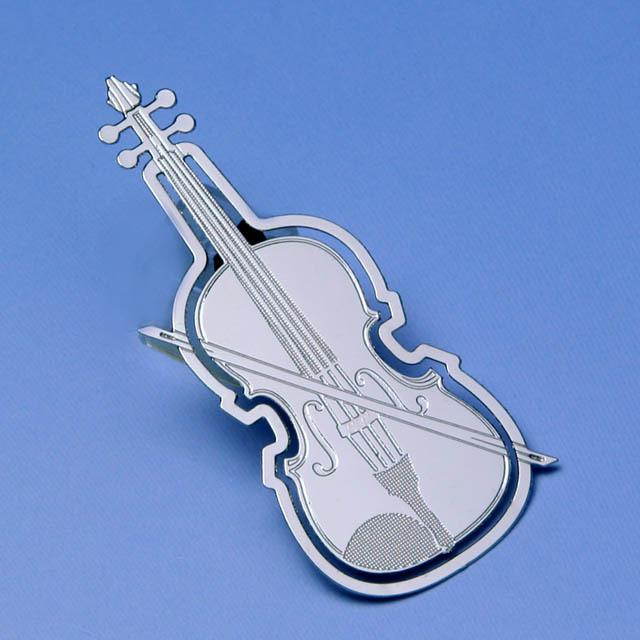 ヴァイオリン violin デザインクリップ ステンレス 音楽雑貨 音楽グッズ 音楽ギフト 記念品