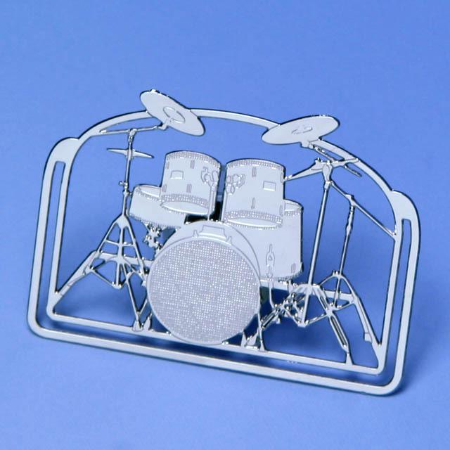 ドラムセット パーカッション drumset percussion デザインクリップ ステンレス 音楽雑貨 音楽グッズ 音楽ギフト 記念品