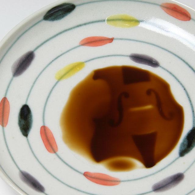 ヴァイオリン 弦楽器 小皿 食器 九谷焼 磁器 音楽雑貨 音楽グッズ 音楽ギフト