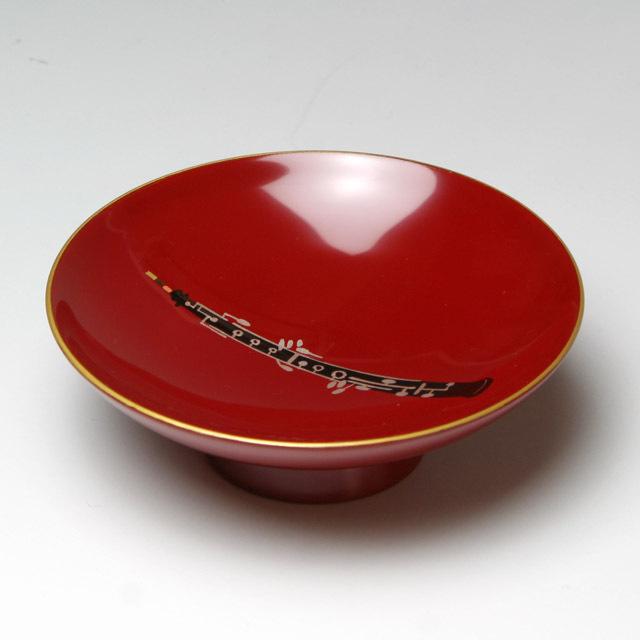 会津塗 木製朱盃 酒杯 オーボエ ダブルリード 音楽雑貨 音楽グッズ 音楽ギフト 音楽小物