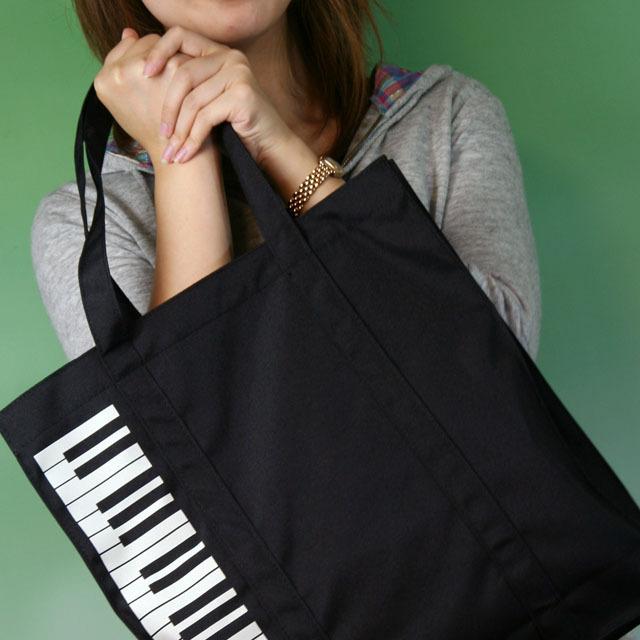 レッスンバッグ ピアノ 鍵盤 トートバッグ 音楽雑貨 音楽グッズ 音楽小物
