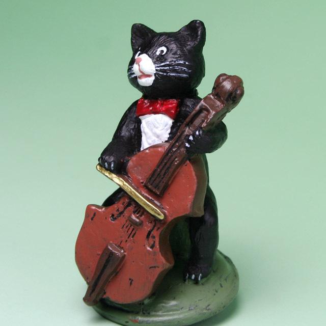黒ネコ オーケストラ フィギュア チェロ 音楽雑貨 音楽グッズ 音楽ギフト