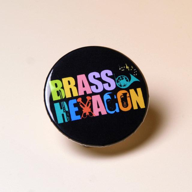 BRASS HEXAGON オリジナルグッズ 缶バッチ ブラスヘキサゴン 音楽雑貨 音楽グッズ