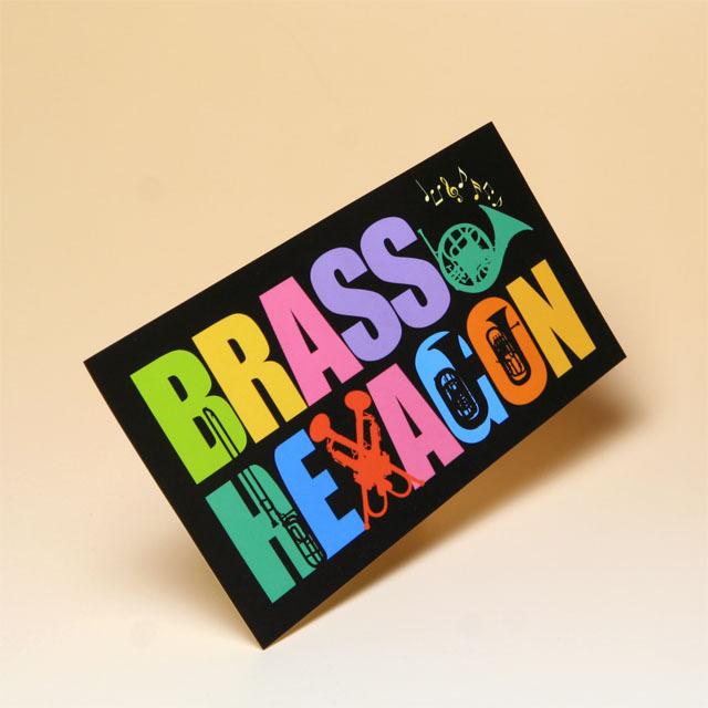 BRASS HEXAGON オリジナルグッズ ステッカー ブラスヘキサゴン 音楽雑貨 音楽グッズ
