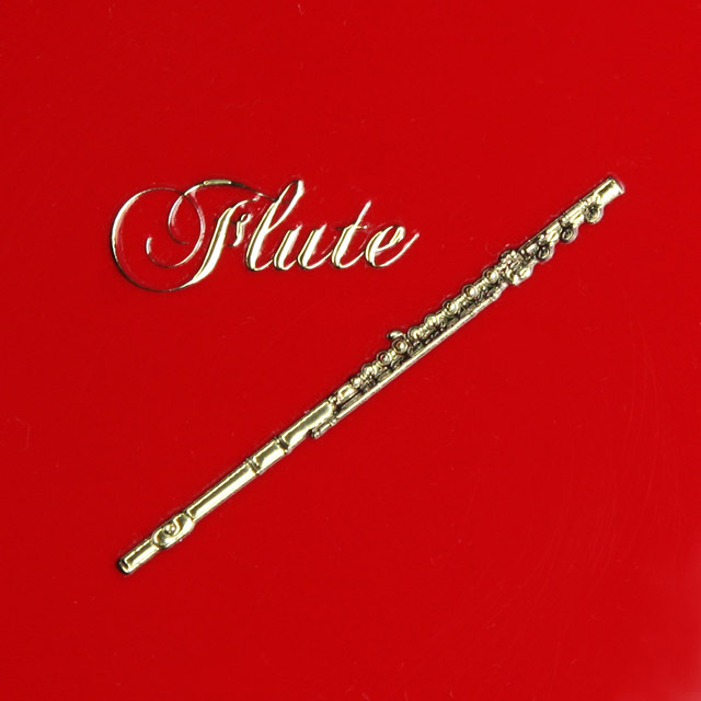 蒔絵風 携帯ステッカー フルート flute 音楽雑貨 音楽グッズ 音楽ギフト