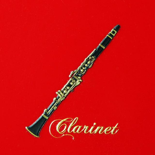 蒔絵風 携帯ステッカー クラリネット clarinet 音楽雑貨 音楽グッズ 音楽ギフト