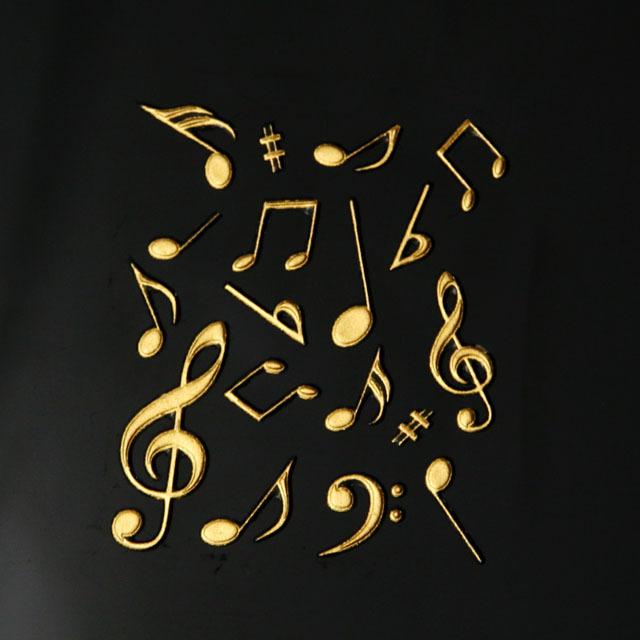 蒔絵風 携帯ステッカー 音符 ト音記号 ヘ音記号 音楽雑貨 音楽グッズ 音楽ギフト