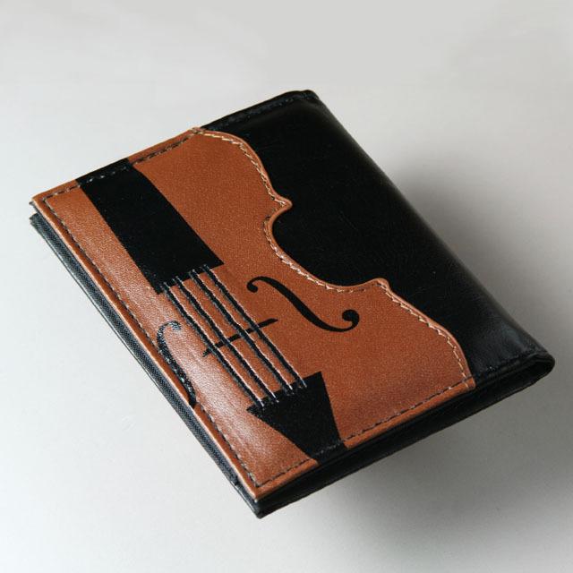 弦楽器 パスケース 定期入 ヴァイオリン ヴィオラ チェロ コントラバス 音楽雑貨 音楽グッズ