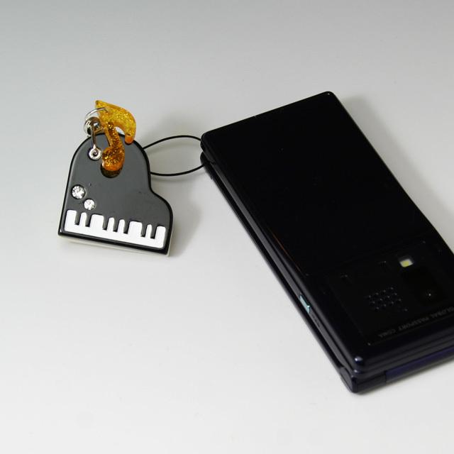 ミラーストラップ グランドピアノ 音楽雑貨 音楽グッズ 音楽小物