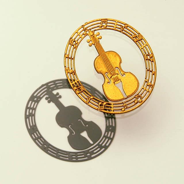プチクリ クリップ ヴァイオリン 弦楽器 文具 音楽雑貨 音楽グッズ 音楽小物