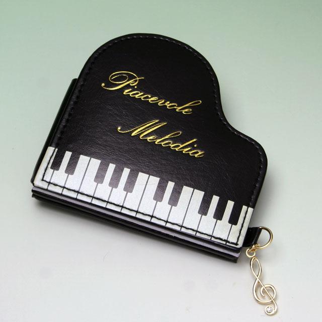 グランドピアノ コンパクトミラー 音楽雑貨 音楽グッズ 音楽小物 音楽ギフト