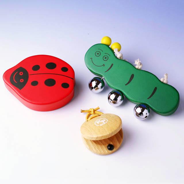 Kids Percussion ベビー楽器セット bell shaker 音楽雑貨 音楽ギフト 知育楽器