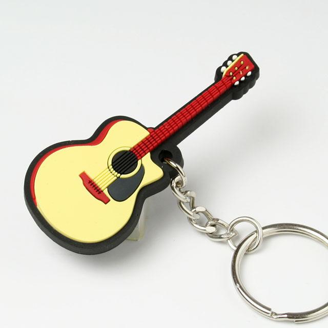 キーホルダー キーチェーン フォークギター 音楽雑貨 音楽グッズ 音楽小物