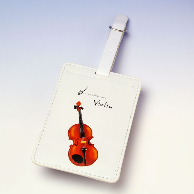 ヴァイオリン violin ネームタグ 名札 音楽雑貨 音楽グッズ 音楽小物